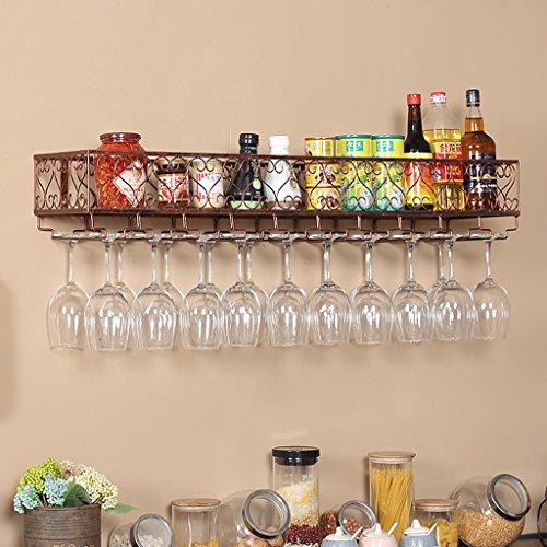 Plancha multifunción de hierro Estante for vino Estante de decoración Antioxidante for Bares Restaurantes Cocinas Bronce (Size : 120 * 25cm)