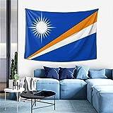 N\A Easy Hanging Home Wandteppich, Flagge der Marshallinseln Große Hintergr&tuch Tischdecke kann für Wohnzimmer Hotel Apartment Wanddekoration verwendet Werden