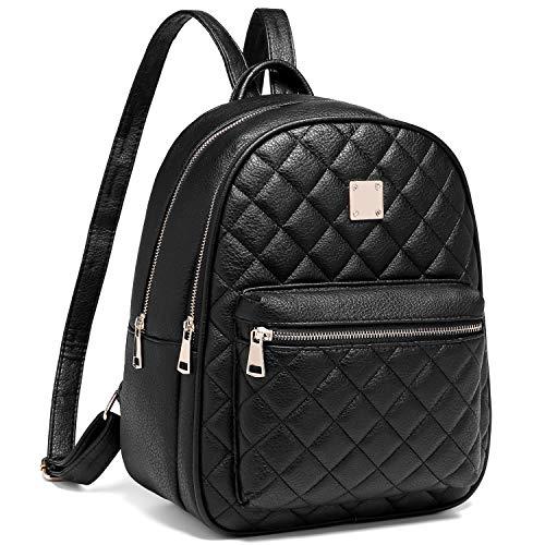 Myhozee Rucksack Damen Leder PU Daypack Klein Elegant Rucksack Tagesrucksack für Mädchen