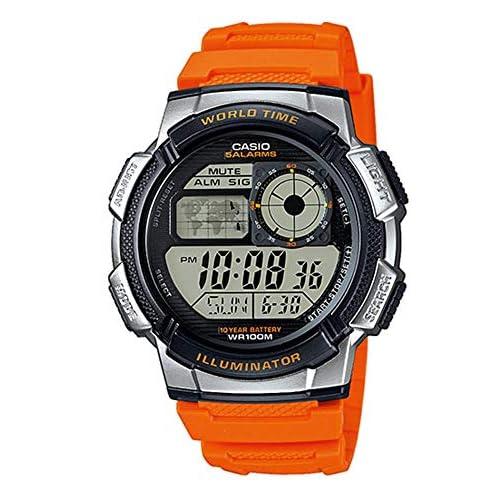 Casio Orologio Cronografo Digitale Uomo con Cinturino in Resina AE-1000W-4BVEF