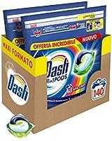 Dash All in 1 Pods Detersivo Lavatrice in Capsule, 140 Lavaggi (2 x 70), Salva Colore, Maxi Formato, Pulizia Profonda,...