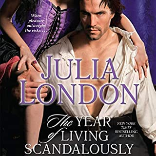 The Year of Living Scandalously, audiobook cover art