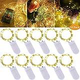 LEDs Lichterkette, 2M 20 LEDs Lichterketten,10 Stück Mini Drahtlichterkette LED Lichts,Lichter...