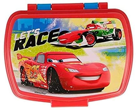 3167; Sandwichera Rectangular Disney Cars, 2 Colores; Dimensiones (16,5x11,5x5,5 cm) Productos de plástico, reutilizable; No BPA