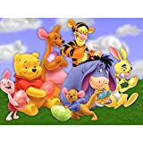 5D Diamond Painting Full Kit,Winnie The Pooh and Lion 5D DIY Diamond Painting Kits for Adults Full Drill Painting Rhinestone Embroidery Pictures Cross Stitch Arts Crafts for Home Wall Decor,16'X12'