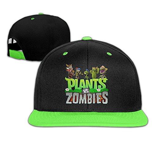 YhsukRuny Kid's Plants Vs Zombies Unisex Adjustable Hip Hop Hat/Cap Kellygreen