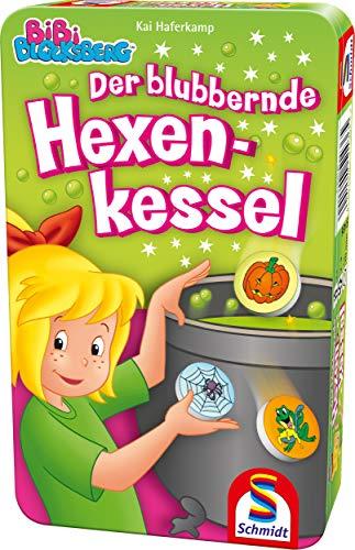 Schmidt Spiele 51436 Bibi Blocksberg, Blubbernder Hexenkessel, Bring Mich mit Spiel in der Metalldose