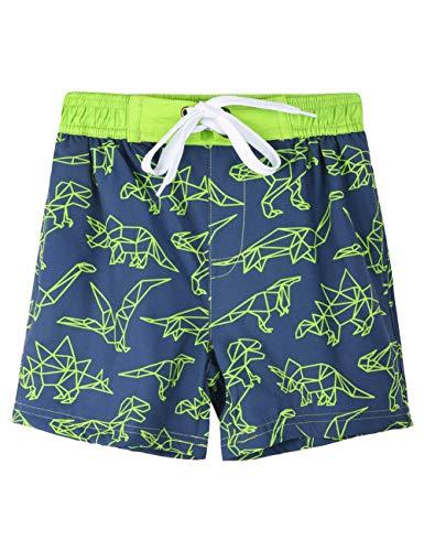 Nonwe Strand-Shorts für Jungen, schnelltrocknend, weich, mit Kordelzug in bunten Taschen - Blau - 4 Jahre