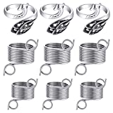 3 Pieces Adjustable Knitting Crochet Loop Rings with 6 Pieces 2 Sizes Metal Yarn Guide Finger Holder Knitting Crafts Accessories Tools for Knitting Quilting Sewing Supplies