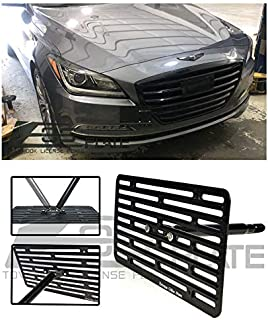 Extreme Online Store Replacement for 2015-Present Hyundai Genesis G80 Sedan | EOS Plate Version 2 Front Bumper Tow Hook License Plate Relocator Mount Bracket Tow-438-V2 (Full Size)