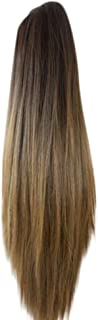 Women Fashion Charming Hair Extension Wig Claw Clip Long Straight Ponytail Hair Extensions Wig Hairpiece,Approx 62cm