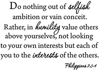 N.SunForest Do Nothing Out of Selfish Ambition Quote Vinyl Walll Decal Home Decor