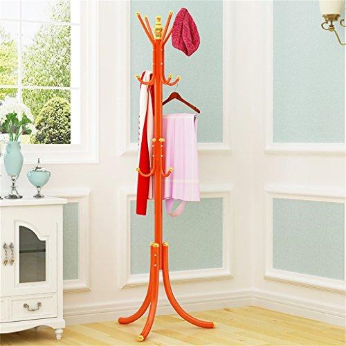 COSS Percha Multifuncional Con Perchero, Perchas De Dormitorio, De Hierro, Como Simplicidad Creativa Casera (175cm) Percheros burro ( Color : Naranja )