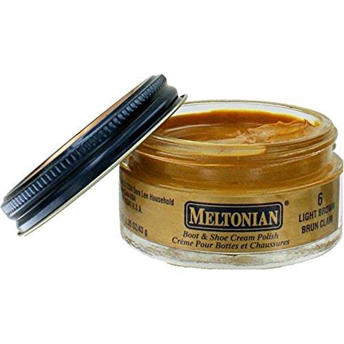 Meltonian Jar Shoe Polish, Light Brown, 1.55oz