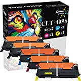 ColorPrint Compatible Toner Cartridge Replacement for Samsung CLT-409S CLT409S 409S Work with CLP-315 CLP315 CLP-310 CLP-310N CLP-315W CLX-3170 CLX-3175FN CLX-3175FW CLX-3175N (2X BK+C+M+Y, 5-Pack)