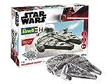 Revell Build & Play 06778 Millennium Falcon, 1:164 Star Wars Modellbausatz für Einsteiger zum Stecken und Spielen, Mehrfarbig