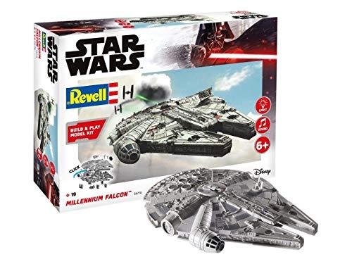 Revell Build & Play Star Wars 06778 Maquette à Construire Faucon Millenium, échelle 1/164, 6778, Blanc