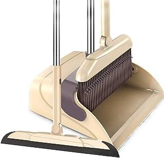 ほうきちりとりセット 自立式 長柄ほうき 立て式掃除セット 腰を曲げず に掃除可能 室内 屋外 玄関 庭 ベランダ 美容室に最適 3点セット