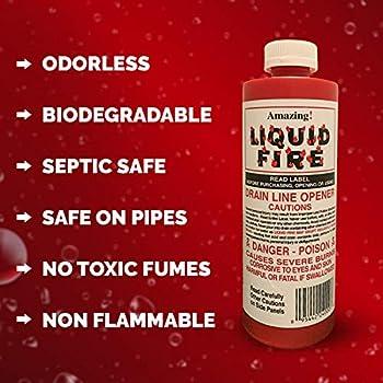 liquid fire drain opener
