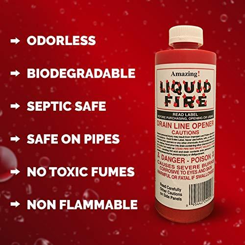 Liquid Fire Drain Line Opener, 32 Oz