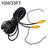 10M 32FT vidéo cable rallonge rca jack câble prise phono connecteur plug pour recul voiture fil de détection rouge