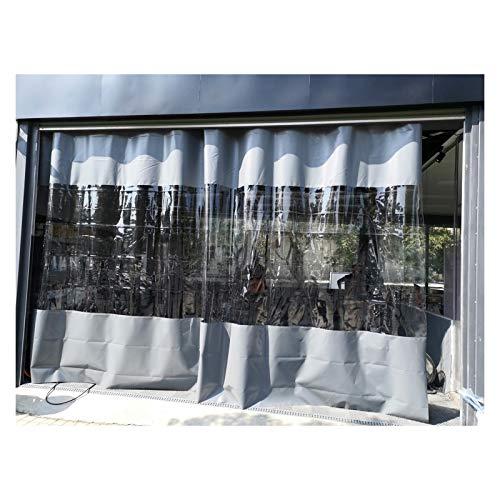 LSXIAO Patio Cortina, Cloruro De Polivinilo Pantalla De Partición, Transparente Lona Alquitranada Panel, Impermeable A Prueba De Polvo con Ojales Y Ganchos De Acero Inoxidable