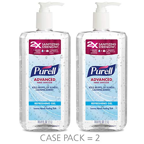 PURELL Advanced Hand Sanitizer Gel, 1L, Pack of 2