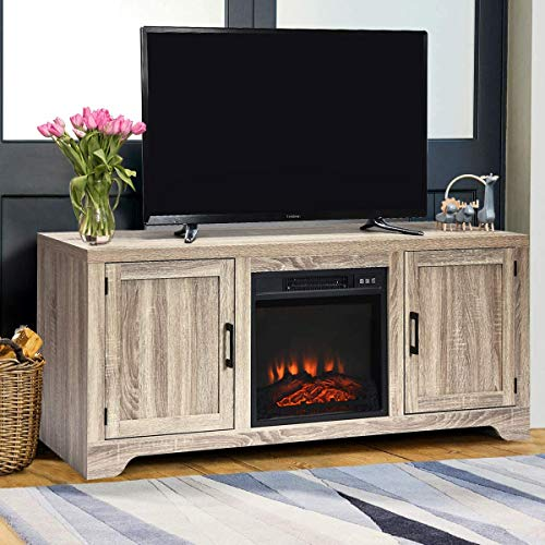 Moccha 18 Freestanding Electric Fireplace Heater, Recessed Electric Stove Heater, Fireplace Insert with Safer Plug and Sensor and Remote Control (Console Center not Included)