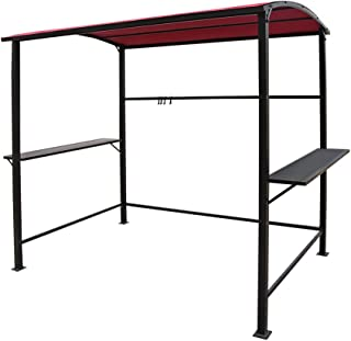 COBANA Grill Gazebo 8'by 4.6' Outdoor Canopy with Single-Tier Soft Top, Red