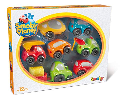 Smoby 7600120217 Vroom Planet Mini-Flitzer Collector Box, bunt