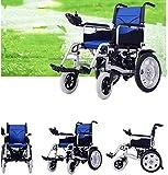 Wheelchair Silla de ruedas, silla de rehabilitación médica para personas mayores, personas mayores, silla de ruedas eléctrica plegable y liviana, silla de ruedas duradera, segura y fácil para sillas