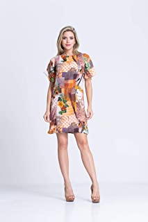 Vestido Clara Arruda Manga Sino Estampado 50376