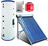 Duda Solar 200 Liter Water Heater Active Split System Single Coil Tank Evacuated Vacuum Tubes Hot SRCC Certified