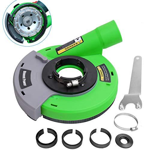 Diment Power Universal Absaughaube für Winkelschleifer mit Bürstenkranz 115/125 mm,Grün