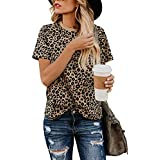 Womens Tops Solid Color V Neck Short Sleeve...