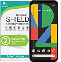 (2-Pack) RinoGear Screen Protector for Google Pixel 4 XL (Accurate Size Fitment) Case Friendly Google Pixel 4 XL Screen Protector Accessory Full Coverage Clear Film