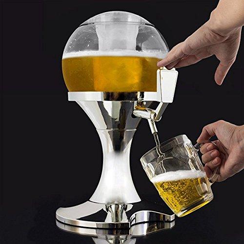 Simpatico Spinnatore della birra con compartimento per il ghiaccio, bevi tanto e in compagnia