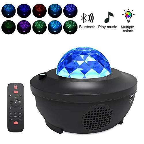 Rubyu Led-projector, nachtlampje, bluetooth flame starry-projector, lamp met muziekspeler, voor bruiloft, slaapkamer, decoratie
