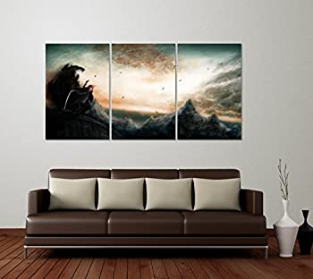 Best Print Store - Kingkiller Chronicles Inspired Kvothe in The Name of The Wind Multi-Panels Set of 3 Posters  24x36 inches
