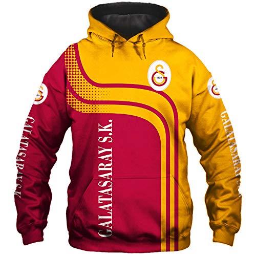 xiaosu Männer Hoodies Jacke Zum Galatasaray-Sk 3D Drucken Fußball-Verein-Fan Pullover/Zip Sweatshirts Tops Leisure / A1 / M
