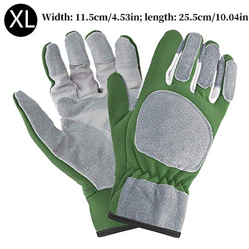 sympuk Gardening Working Gloves Anti-Slip Breathable Comfortable Weed Puling Up Gloves for Gardening Fishing Clamming Restoration Work & More
