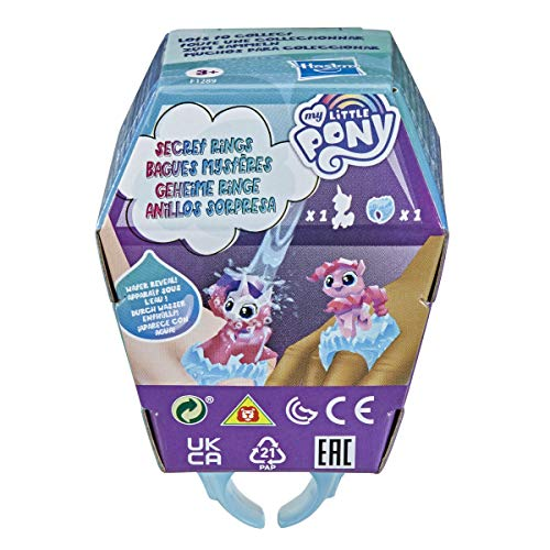 My Little Pony Secret Rings Blind Bag Series 1 -- Collectible Toy with Water-Reveal Surprise and Wearable Ring Accessory, 1.5-Inch Figure