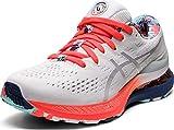 ASICS Women's Gel-Kayano 28 Running Shoes, 9, White/Thunder Blue
