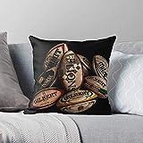 Gilbert Life Balls Lions Guinness Rugby Still HDR Moderne Décoratif Et Léger Doux Polyester Taie d'oreiller pour Chambre/Salon/Canapé Chaise Et Voiture,16x16pouce