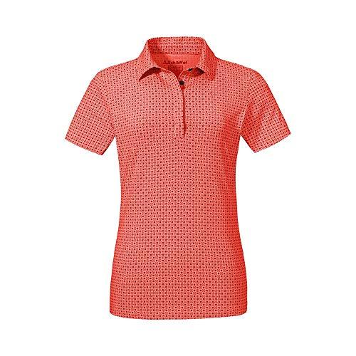 Schöffel Damen Polo Shirt Altenberg1, Aura orange, 48