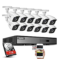 cheap SANNCE 1 TB HDD 16 Channel Video Surveillance System 1080NDVR, 12 1080PH i-Resolution…