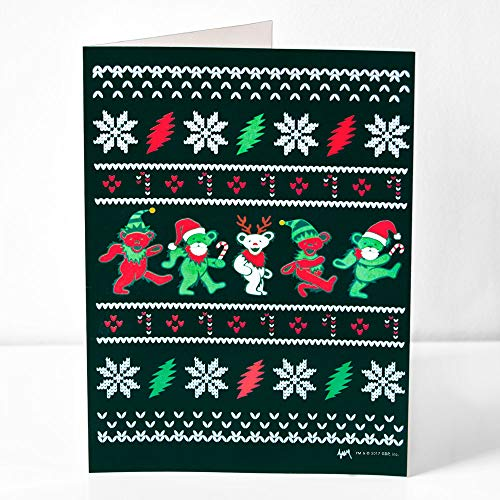 Grateful Dead Ugly Christmas Sweater Jingle Bears Christmas Card (5)
