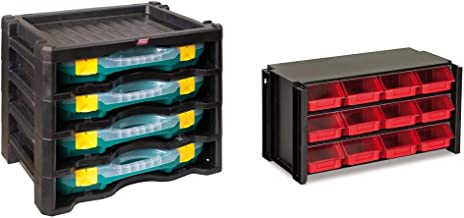 Tayg 2 Multi-Box nº2, Blanco, 447x314x360mm + Estante con clasificador apilable plástico 12 cajones