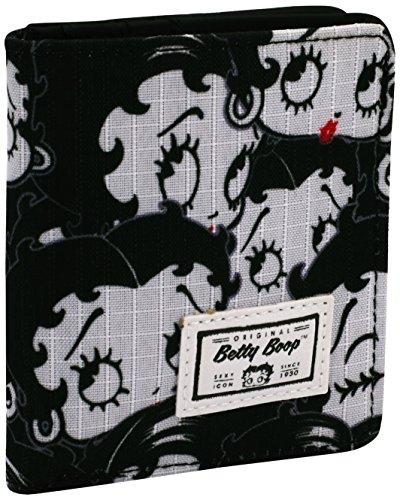 Betty Boop Noir Münzbörse, 11 cm, Schwarz (Negro)