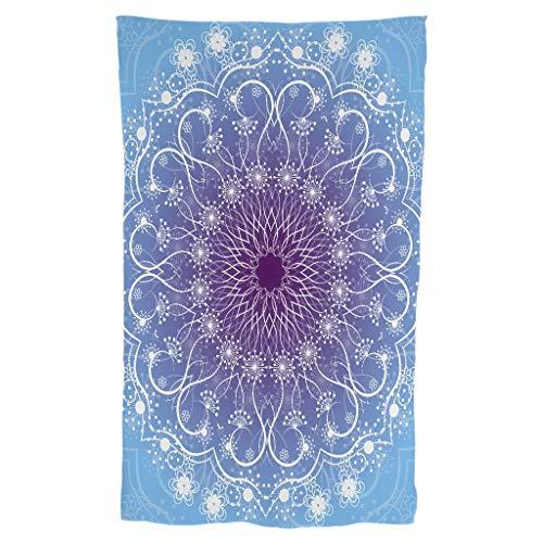 Bufanda estilo mandela de color azul violeta degradado vintage - Mandela Art Bufanda
